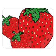 Strawberry Holidays Fragaria Vesca Double Sided Flano Blanket (large)