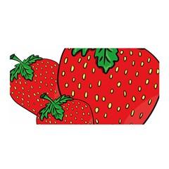 Strawberry Holidays Fragaria Vesca Satin Wrap by Nexatart