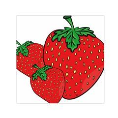 Strawberry Holidays Fragaria Vesca Small Satin Scarf (square)