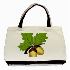 Acorn Hazelnuts Nature Forest Basic Tote Bag (two Sides) by Nexatart
