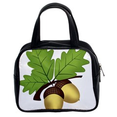 Acorn Hazelnuts Nature Forest Classic Handbags (2 Sides) by Nexatart