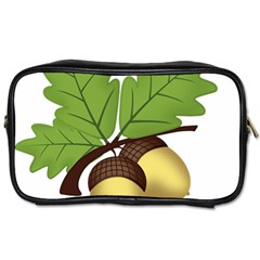 Acorn Hazelnuts Nature Forest Toiletries Bags 2 Side by Nexatart
