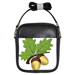 Acorn Hazelnuts Nature Forest Girls Sling Bags by Nexatart