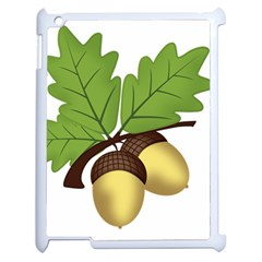 Acorn Hazelnuts Nature Forest Apple Ipad 2 Case (white)
