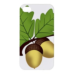 Acorn Hazelnuts Nature Forest Apple Iphone 4/4s Premium Hardshell Case by Nexatart