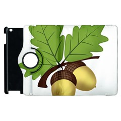 Acorn Hazelnuts Nature Forest Apple Ipad 3/4 Flip 360 Case by Nexatart
