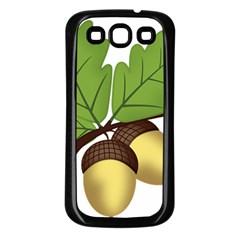 Acorn Hazelnuts Nature Forest Samsung Galaxy S3 Back Case (black) by Nexatart