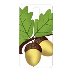 Acorn Hazelnuts Nature Forest Samsung Galaxy Note 3 N9005 Hardshell Back Case by Nexatart