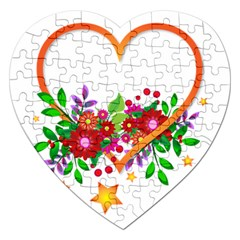 Heart Flowers Sign Jigsaw Puzzle (heart)