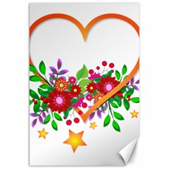 Heart Flowers Sign Canvas 20  X 30   by Nexatart