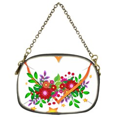 Heart Flowers Sign Chain Purses (two Sides)  by Nexatart