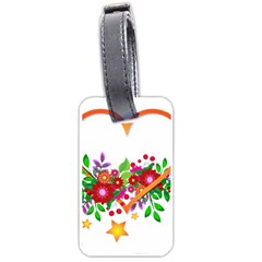 Heart Flowers Sign Luggage Tags (two Sides)