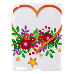 Heart Flowers Sign Apple Ipad 3/4 Hardshell Case (compatible With Smart Cover) by Nexatart