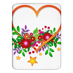 Heart Flowers Sign Samsung Galaxy Tab 3 (10 1 ) P5200 Hardshell Case  by Nexatart