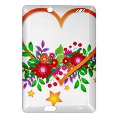 Heart Flowers Sign Amazon Kindle Fire Hd (2013) Hardshell Case by Nexatart