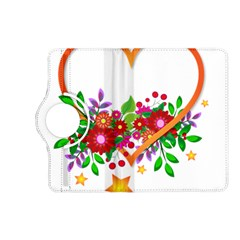 Heart Flowers Sign Kindle Fire Hd (2013) Flip 360 Case by Nexatart