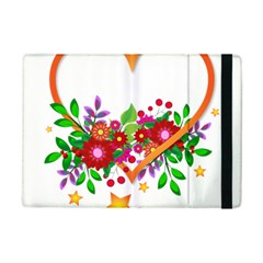 Heart Flowers Sign Ipad Mini 2 Flip Cases