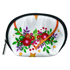 Heart Flowers Sign Accessory Pouches (medium)