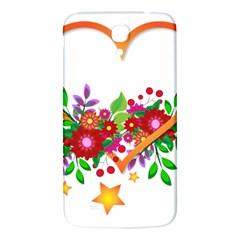Heart Flowers Sign Samsung Galaxy Mega I9200 Hardshell Back Case by Nexatart