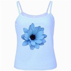 Daisy Flower Floral Plant Summer Baby Blue Spaghetti Tank