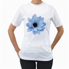 Daisy Flower Floral Plant Summer Women s T Shirt (white) (two Sided) by Nexatart