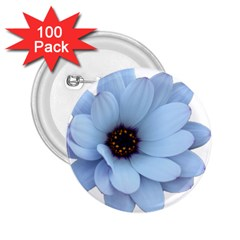 Daisy Flower Floral Plant Summer 2 25  Buttons (100 Pack)  by Nexatart