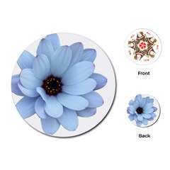 Daisy Flower Floral Plant Summer Playing Cards (round)  by Nexatart