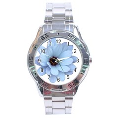Daisy Flower Floral Plant Summer Stainless Steel Analogue Watch by Nexatart