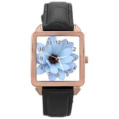 Daisy Flower Floral Plant Summer Rose Gold Leather Watch