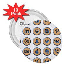 Social Media Icon Icons Social 2 25  Buttons (10 Pack)  by Nexatart