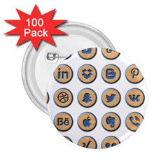 Social Media Icon Icons Social 2 25  Buttons (100 Pack)