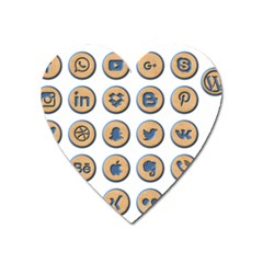 Social Media Icon Icons Social Heart Magnet by Nexatart