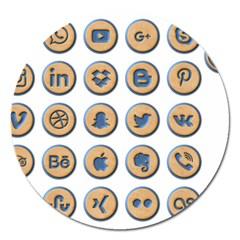 Social Media Icon Icons Social Magnet 5  (round) by Nexatart