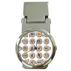 Social Media Icon Icons Social Money Clip Watches