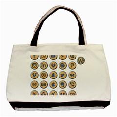 Social Media Icon Icons Social Basic Tote Bag by Nexatart