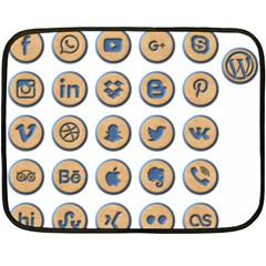 Social Media Icon Icons Social Fleece Blanket (mini) by Nexatart
