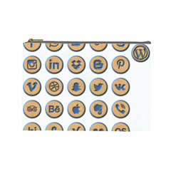 Social Media Icon Icons Social Cosmetic Bag (large)  by Nexatart