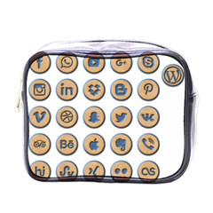 Social Media Icon Icons Social Mini Toiletries Bags by Nexatart