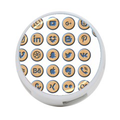 Social Media Icon Icons Social 4 Port Usb Hub (two Sides)  by Nexatart