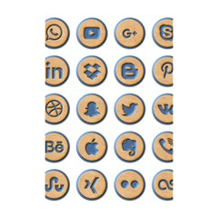 Social Media Icon Icons Social Shower Curtain 48  X 72  (small)