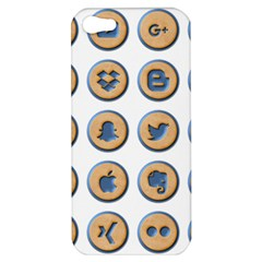 Social Media Icon Icons Social Apple Iphone 5 Hardshell Case by Nexatart