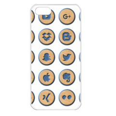 Social Media Icon Icons Social Apple Iphone 5 Seamless Case (white)