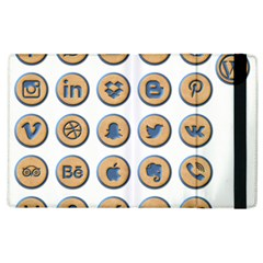 Social Media Icon Icons Social Apple Ipad 2 Flip Case by Nexatart