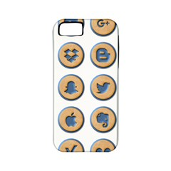 Social Media Icon Icons Social Apple Iphone 5 Classic Hardshell Case (pc+silicone) by Nexatart