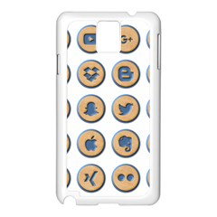 Social Media Icon Icons Social Samsung Galaxy Note 3 N9005 Case (white)