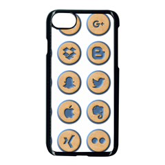 Social Media Icon Icons Social Apple Iphone 7 Seamless Case (black) by Nexatart