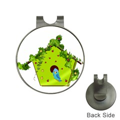 Bluebird Bird Birdhouse Avian Hat Clips With Golf Markers