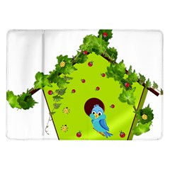 Bluebird Bird Birdhouse Avian Samsung Galaxy Tab 10 1  P7500 Flip Case