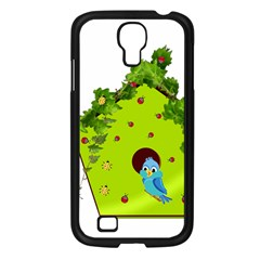 Bluebird Bird Birdhouse Avian Samsung Galaxy S4 I9500/ I9505 Case (black)
