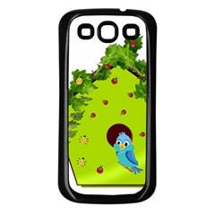 Bluebird Bird Birdhouse Avian Samsung Galaxy S3 Back Case (black)